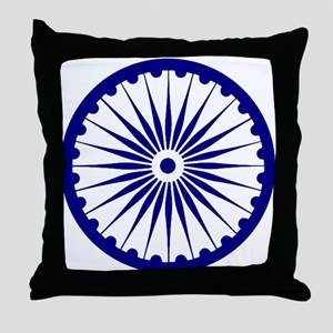 Ashoka Chakra Throw Pillow