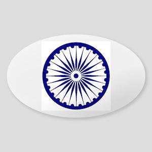 Ashoka Chakra Sticker (Oval)