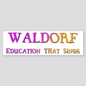 Waldorf Education That Sings Bumper Sticker