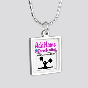 AWESOME CHEER Silver Square Necklace