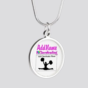 AWESOME CHEER Silver Round Necklace