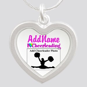 AWESOME CHEER Silver Heart Necklace