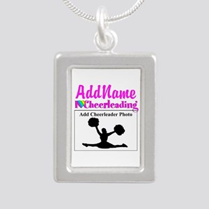 AWESOME CHEER Silver Portrait Necklace