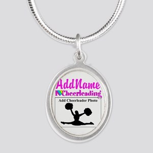 AWESOME CHEER Silver Oval Necklace