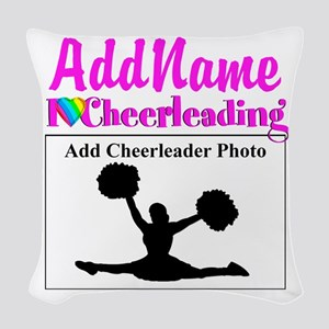 AWESOME CHEER Woven Throw Pillow
