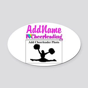 AWESOME CHEER Oval Car Magnet