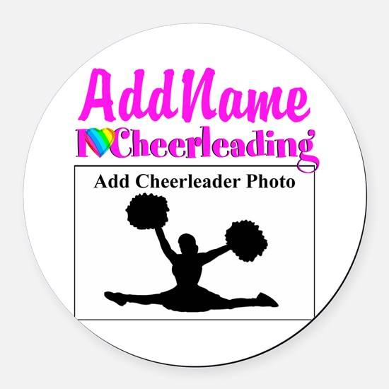 AWESOME CHEER Round Car Magnet