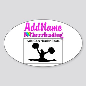 AWESOME CHEER Sticker (Oval)