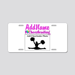 AWESOME CHEER Aluminum License Plate