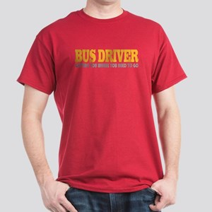 Funny Bus Driver Dark T-Shirt