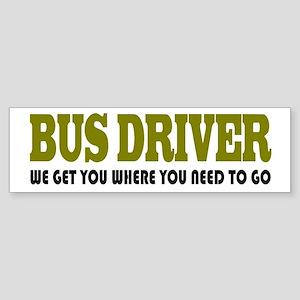 Funny Bus Driver Bumper Sticker