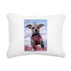 'red Baron' Rectangular Canvas Pillow