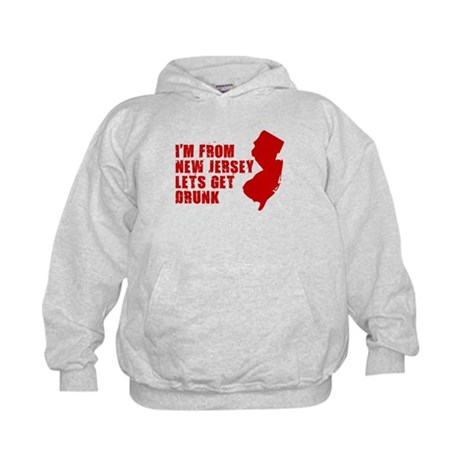 NEW JERSEY DRINKING SHIRT FUN Kids Hoodie