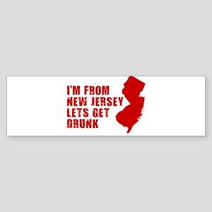 NEW JERSEY DRINKING SHIRT FUN Bumper Sticker