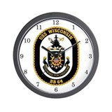 Navy wisconsin Wall Clocks