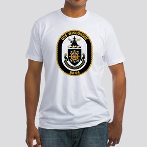 Personalized Uss Wisconsin Bb-64 Fitted T-Shirt