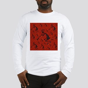21 Red Coral and Turquoise Ko Long Sleeve T-Shirt