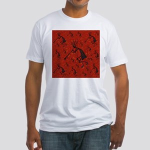 21 Red Coral and Turquoise Ko Fitted T-Shirt