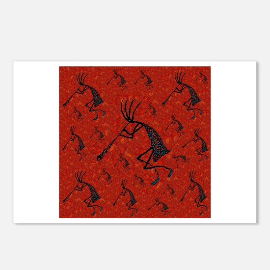 21 Red Coral and Turquoise Ko Postcards (Package o