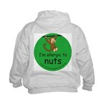 I'm allergic to nuts-green Kids Hoodie-back design