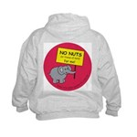 NO NUTS (or traces) Kids Hoodie with back design