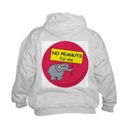 NO PEANUTS for me Kids Hoodie with back design