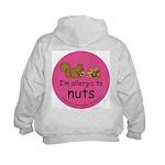 Nuts squirrel-pink Kids Hoodie with back design