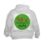 Nuts squirrel green Kids Hoodie with back design