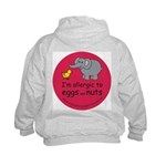 Eggs and nuts-red Kids Hoodie with back design