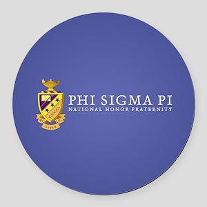 Phi Sigma Pi Logo Round Car Magnet