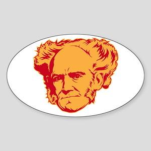 Strk3 Schopenhauer Oval Sticker