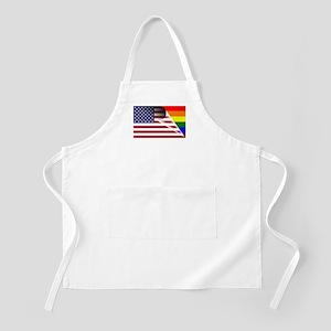 Flag Of U.S.A. Gay Pride Rainbow Apron