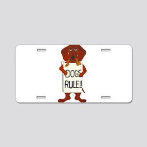 Dachshund Dogs Rule Aluminum License Plate