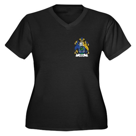 Wood II Women's Plus Size V-Neck Dark T-Shirt