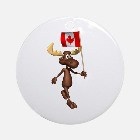 Cool Moose Ornament (Round)