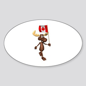Cool Moose Oval Sticker