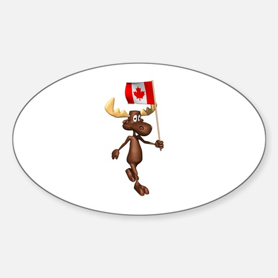 Cool Moose Oval Decal