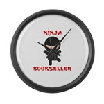 Ninja Bookseller Large Wall Clock