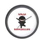 Ninja Bookseller Wall Clock