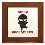 Ninja Bookseller Framed Tile