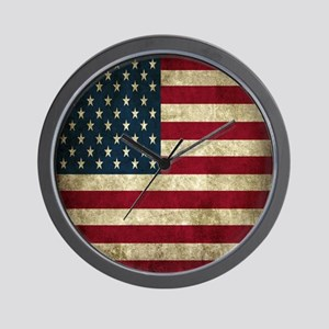 USA Flag - Grunge Wall Clock