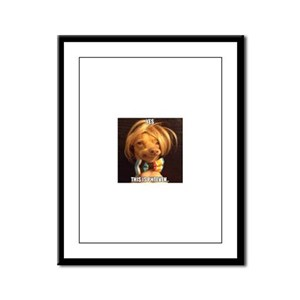 This is Phteven Framed Panel Print