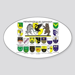 Cynagua Branches Oval Sticker