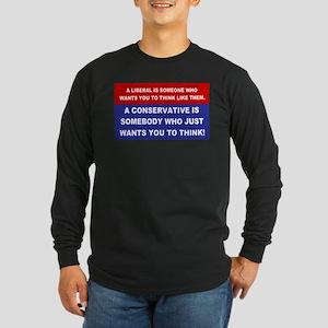 A Conservative Long Sleeve Dark T-Shirt