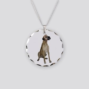 Great Dane (fawn) Necklace Circle Charm