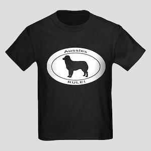 AUSSIES RULE Kids Dark T-Shirt