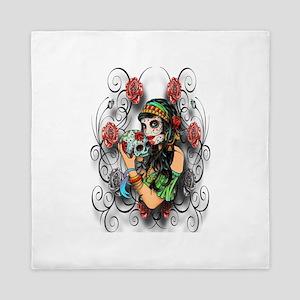 Candy Rose Skull Queen Duvet