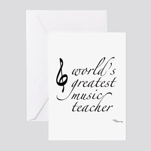 world's greatest music teache Greeting Cards (Pack