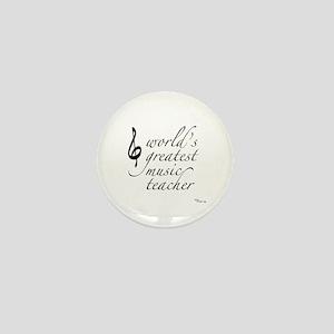 world's greatest music teache Mini Button