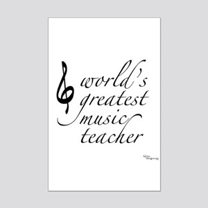 world's greatest music teache Mini Poster Print